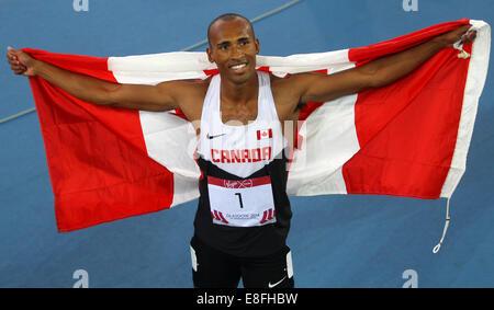 Damian Warner (CAN) Gold Medal - Decathlon. Athletics - Hampden Park - Glasgow - UK - 29/07/2014 - Commonwealth - Stock Photo