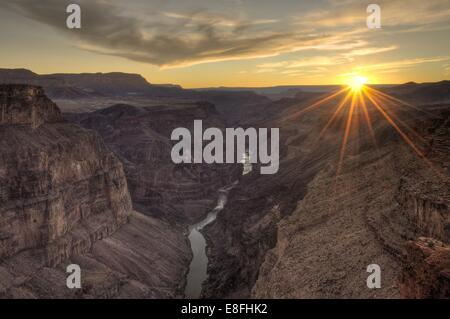 Arizona, Grand Canyon National Park, Sunset at Toroweap - Stock Photo