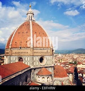 Italy, Tuscany, Florence, Dome of Florence Cathedral - Stock Photo