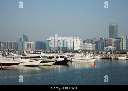 United Arab Emirates, Abu Dhabi, Skyline - Stock Photo