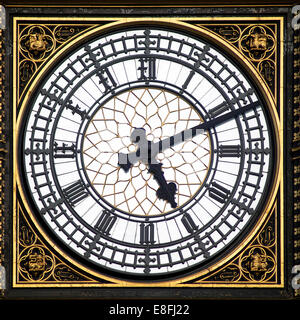 Big Ben clock face, London, England, UK - Stock Photo