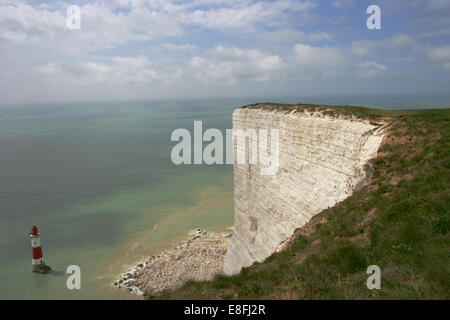 Lighthouse, Beachy Head, Eastbourne, East Sussex, England, UK - Stock Photo