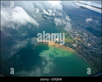 USA, Illinois, Chicago, Aerial view of city - Stock Photo