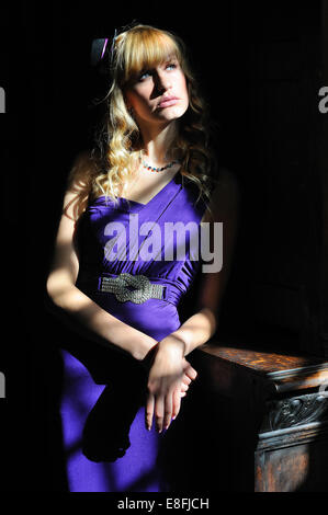 Girl In Sun Rays. - Stock Photo