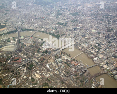 UK, London, River Thames from above - Stock Photo
