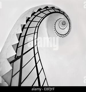Spiral staircase in lighthouse, Dugi Island, Croatia - Stock Photo