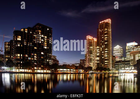 London, UK Canary Wharf - Stock Photo