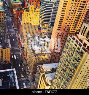 USA, New York State, New York City, New York City skyline from above - Stock Photo
