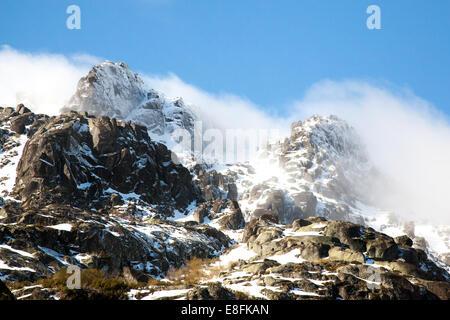 Portugal, Serra da Estrela natural park, Cantaros mountain range - Stock Photo