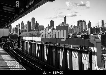 USA, New York State, New York City, Queens Plaza - Stock Photo