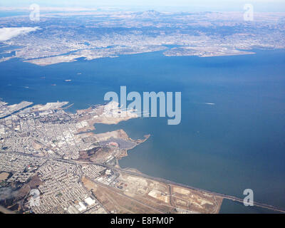USA, California, San Francisco Bay, Alameda, Docks, Ferry Landing - Stock Photo