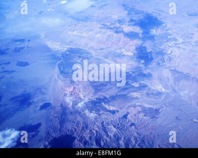 Nevada, United States of America Mountains From Above - Stock Photo