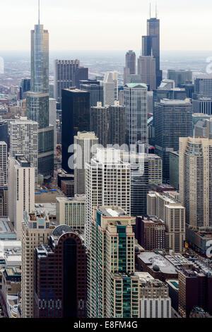 Chicago, Illinois, United States of America Chicago Skyline - Stock Photo