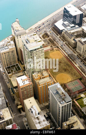 Chicago, Illinois, United States of America Green Space Downtown - Stock Photo