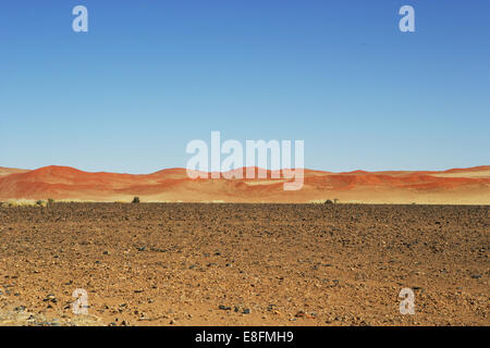 Sand Dune landscape, Naukluft National Park, Sossulsvlei, Namibia - Stock Photo