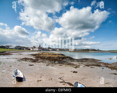Ballywalter, County Down, Northern Ireland Beach/Village Scene From Northern Ireland - Stock Photo