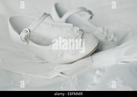 Close-up of Bridesmaid's Shoes - Stock Photo