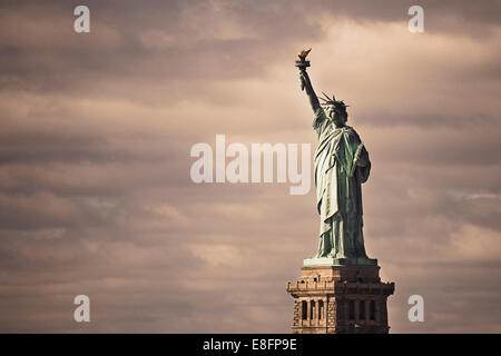 USA, New York State, New York City, Statue Of Liberty - Stock Photo