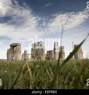 Stonehenge, Salisbury Plain, Wiltshire, England, UK - Stock Photo