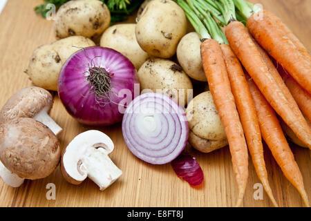 Fresh vegetables on table - Stock Photo