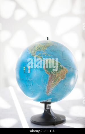 Globe showing North America and South America - Stock Photo