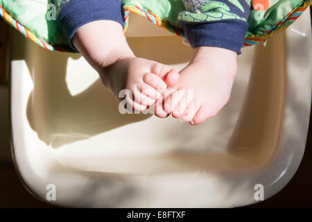 Close-up of a boy's feet - Stock Photo