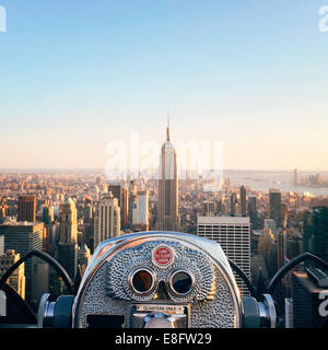USA, New York State, New York City, View of Empire State Building - Stock Photo