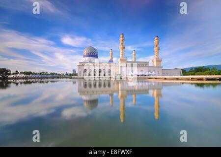 Malaysia, Sabah, Kota Kinabalu City Mosque - Stock Photo