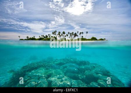 Tropical island, Maldives - Stock Photo
