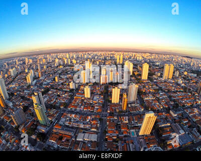 Brazil, Cityscape of south side of Sao Paulo city - Stock Photo