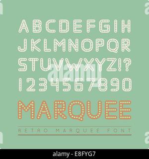 Retro marquee font - Stock Photo