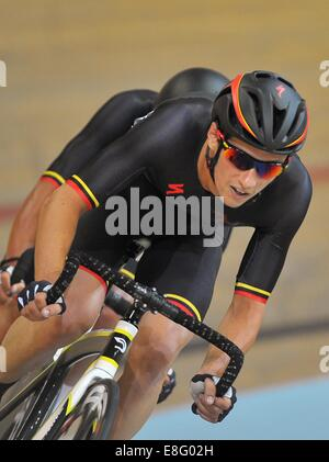 Joseph Kelly (IOM). Mens 40Km points race. Track Cycling - Sir Chris Hoy Velodrome - Glasgow - UK - 26/07/2014  - Stock Photo