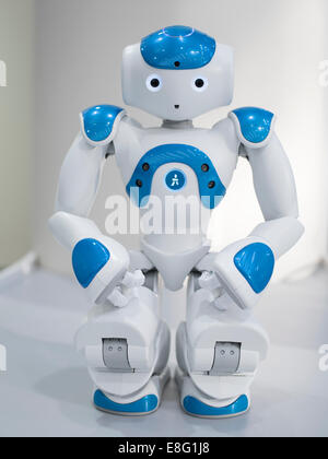 Nao an autonomous, programmable humanoid robot by Aldebaran Robotics. - Stock Photo