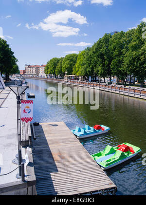View of the Danes River that flows through Klaipeda, Lithuania - Stock Photo
