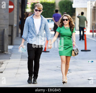 Hollywood, California, USA. 6th Oct, 2014. The UK Boy Band Rixton walked the alleyway behind Jimmy Kimmel Live! - Stock Photo