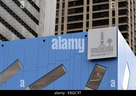 BRISBANE, AUS - SEP 25 2014:City of Brisbane symbol.It's local government area that has jurisdiction over the inner - Stock Photo