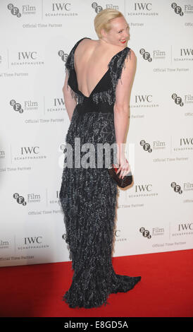 London, UK, UK. 7th Oct, 2014. Gwendoline Christie attends IWC Schaffhausen and BFI London Film Festival - private - Stock Photo
