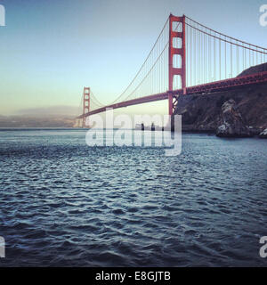Golden Gate Bridge, San Francisco, America, USA - Stock Photo