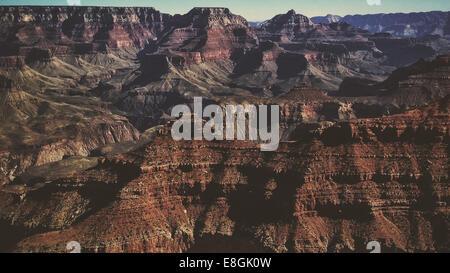 USA, Arizona, Grand Canyon National Park, Rocks of Grand Canyon - Stock Photo