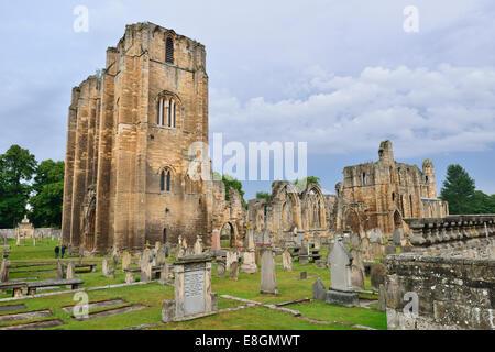 Ruins of Elgin Cathedral, Elgin, Moray, Grampian, Scotland, United Kingdom - Stock Photo