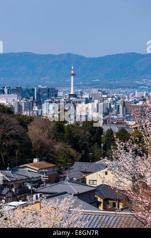 Cityscape of Kyoto, Japan - Stock Photo