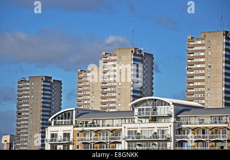 tower blocks, flats, apartments, in auckland, new zealand