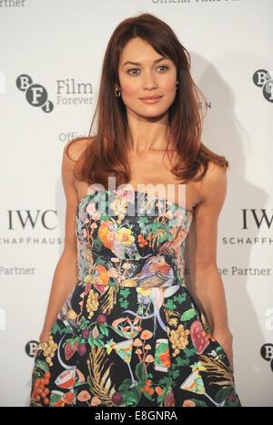 London, UK, UK. 7th Oct, 2014. OLGA KURYLENKO attends IWC Schaffhausen and BFI London Film Festival private dinner - Stock Photo