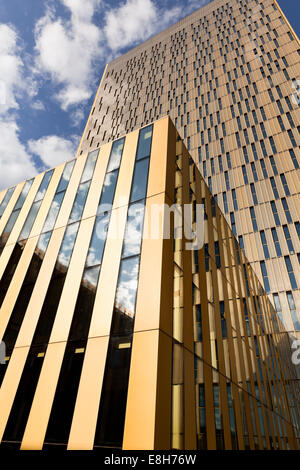Luxembourg, Luxembourg City,  twin towers of European Court of Justice - Stock Photo