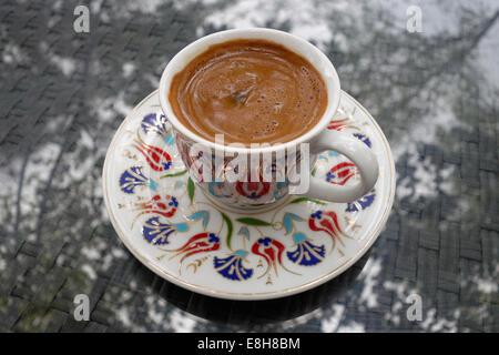 Turkey, Cup of Turkish coffee - Stock Photo