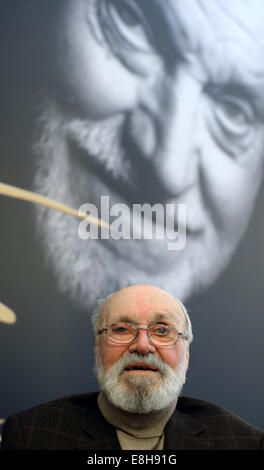 Leipzig, Germany. 8th Oct, 2014. Composer Kurt Masur at the opening of the exhibition 'Kurt Masur - Ein Leben bewegt - Stock Photo