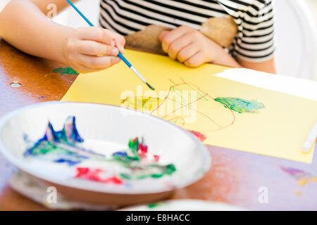 Art and craft station at the local festival in Autumn. - Stock Photo