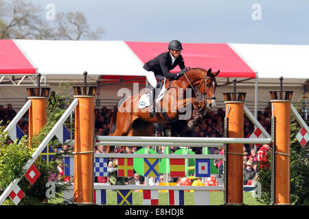 Tim Price on Ringwood Sky Boy at Badminton Horse Trials 2014 - Stock Photo