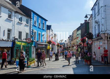 Shops on Michael Street in the city centre, Waterford City, County Waterford,  Republic of Ireland - Stock Photo