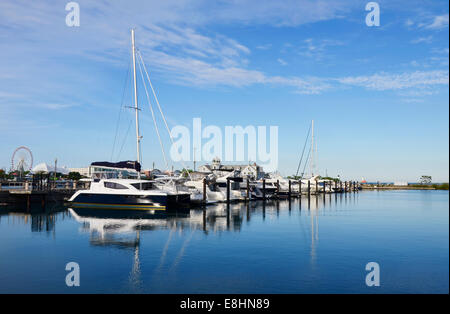 DuSable Harbor in Chicago - Stock Photo